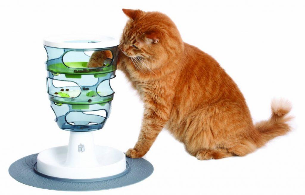 distributeur de croquettes friandises pour chat