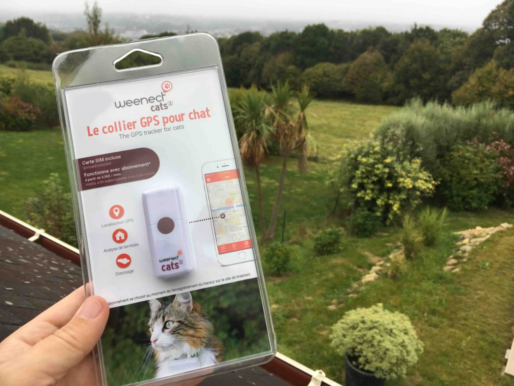 traceur gps pour chat weenect emballé
