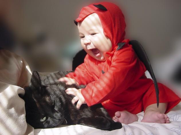 chat treeeeeees patient avec bebe
